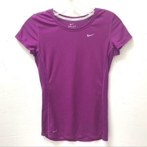 Nike Running DriFit Magenta Short Sleeved Top